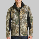 Camouflage Colorblock Soft Shell